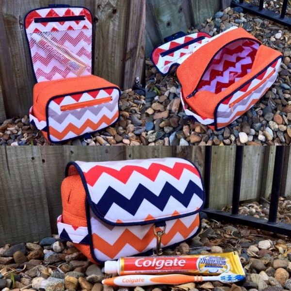Hang About Toiletry Bag sewing pattern - Allsewingpatterns.net