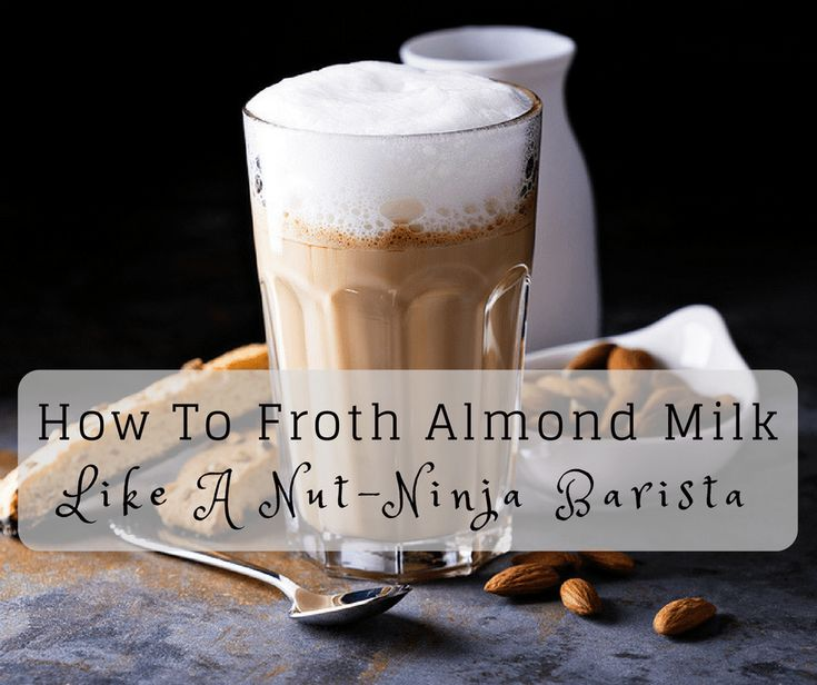 How to froth almond at home like a nutninja barista in