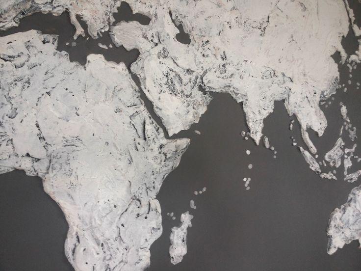 Карта Мира на стену из штукатурки. Делаю на заказ в Санкт Петербурге