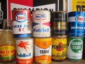 Antiguas Latas De Aceite Mobil Oil, Esso, Pemex Sol, Quaquer - $ 100 ...