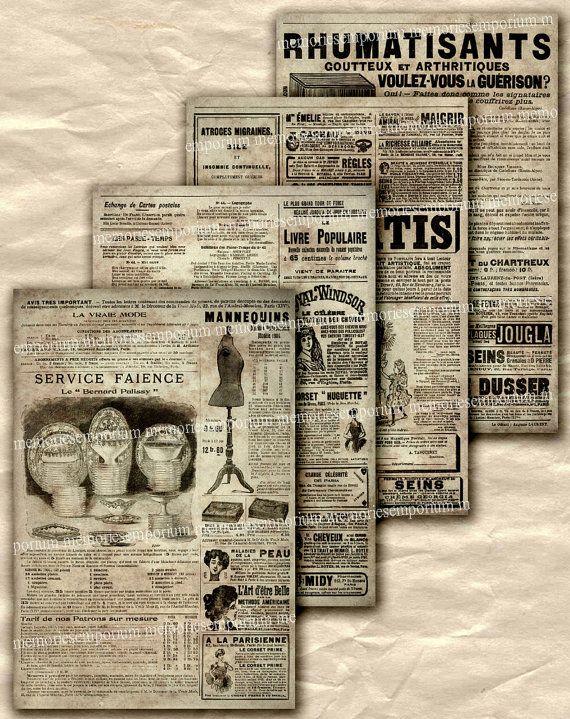 Best Newspaper Images On   Vintage Newspaper Free