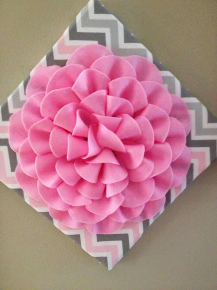 A personal favorite from my Etsy shop https://www.etsy.com/listing/199606196/pink-and-gray-chevron-wall-hanging