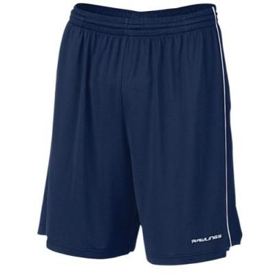 $24, Navy Shorts: Rawlings Training Shorts Navy. Sold by Eastbay. Click for more info: https://lookastic.com/men/shop_items/66323/redirect