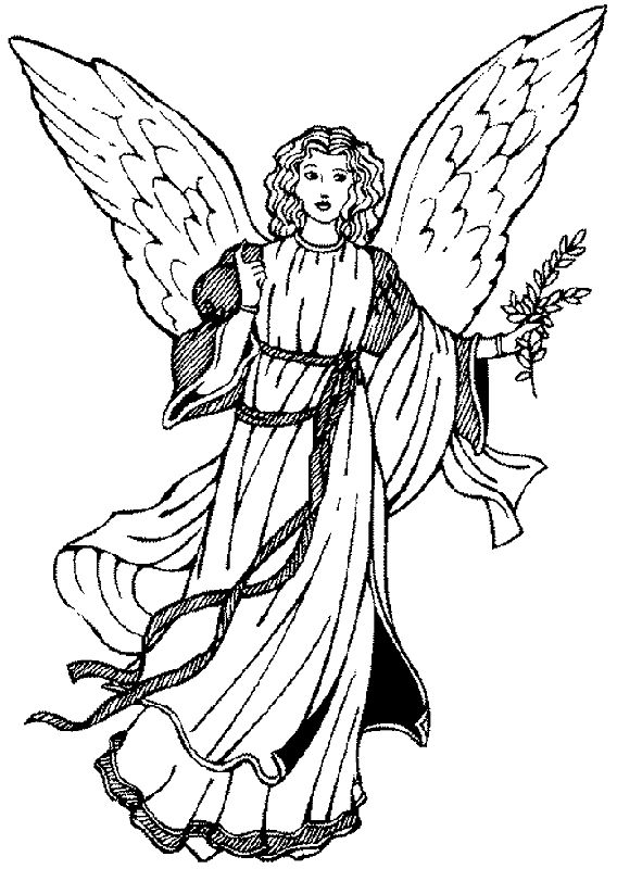 154 best Angels to Color images on Pinterest | Angels, Line art and ...