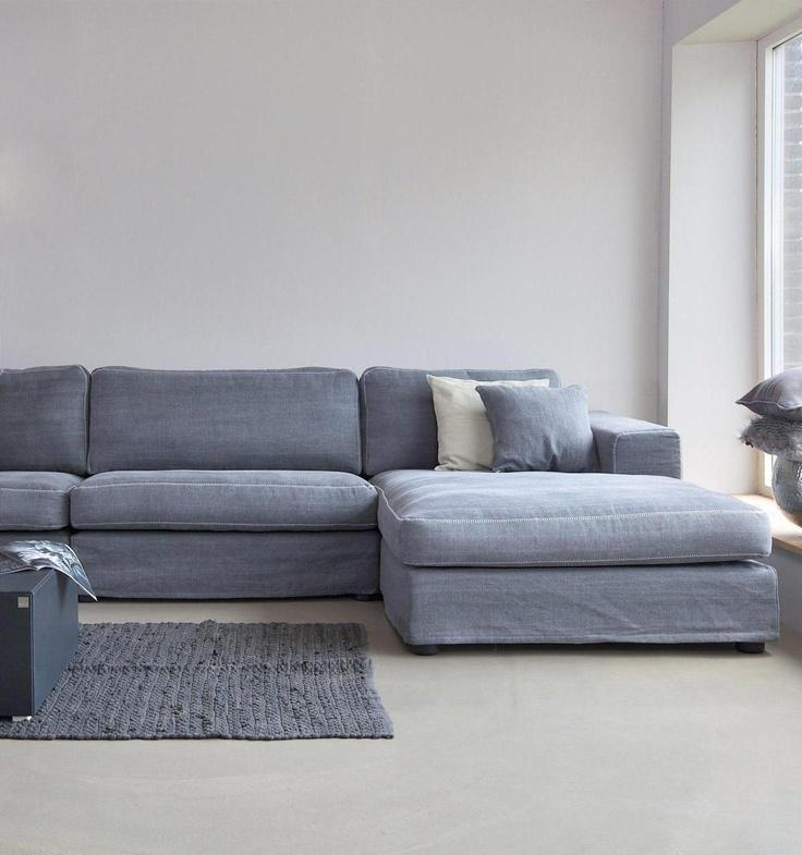 Licht grijze bank / Soft grey sofa  Via Lin Stoer ...