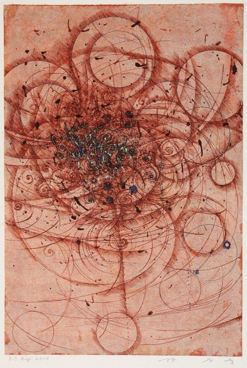 HAYASHI Takahiko  D-3.Aug.2010  painting on paper  42.6x28.9cm