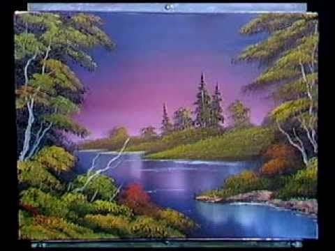 Bob Ross - Painting Blue River - Painting Video