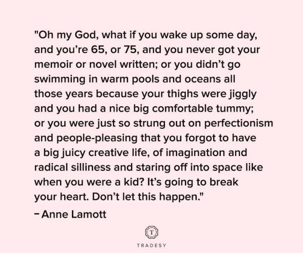 Anne Lamott quote about regrets