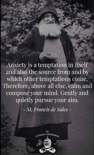 Anxiety is a temptation