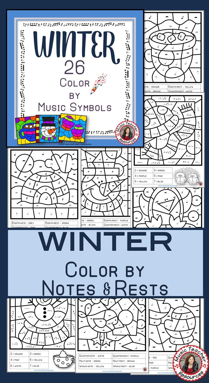 26 WINTER Music Coloring pages! CLICK through to view the set or SAVE for later! #musiceducation