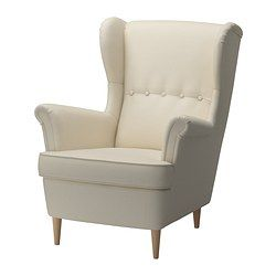 IKEA - STRANDMON, Wing chair, Isefall natural, , You can really loosen up and relax in comfort because the high back on this chair provides extra support for your neck.10-year limited warrranty. Read about the terms in the limited warranty brochure.