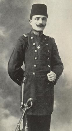 The Young Turks were headed by Enver Bey, a Macedonian army officer, later to become War Minister at a crucial time. Their political commissar was Mehmet Talaat , (1874-1921) destined to become Interior Minister. Two other prominent members of the junta were Ahmed Djemal (1872-1922) a future Navy minister, and Mehmet Djavid Bey (1876-1925), later Finance Minister. All these men were destined to die violently in the turbulent years following the collapse of Ottoman Turkey in 1918.