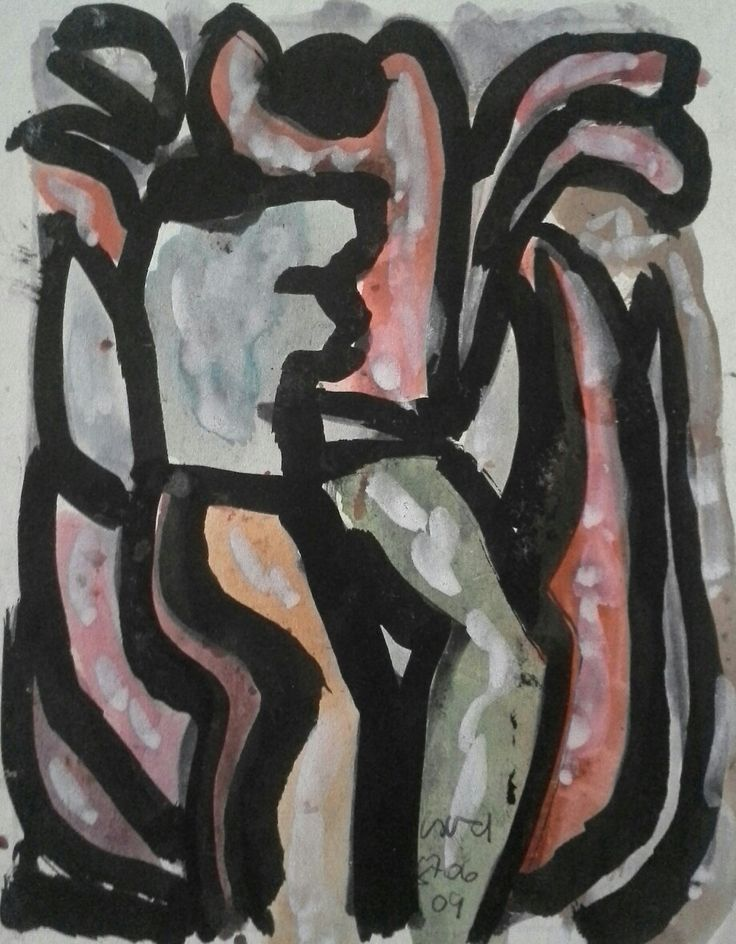 Németh Miklós (1934-2012) Vízfesték,papír Mihály Gyűjtemény