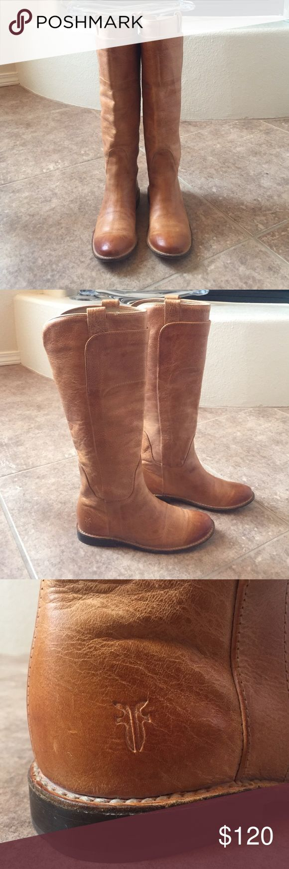 Frye Paige Tall Riding Boots I bought these used, and they're in excellent used condition, but they're too big for me. 😢 They're beautiful and still smell like leather. Frye Shoes