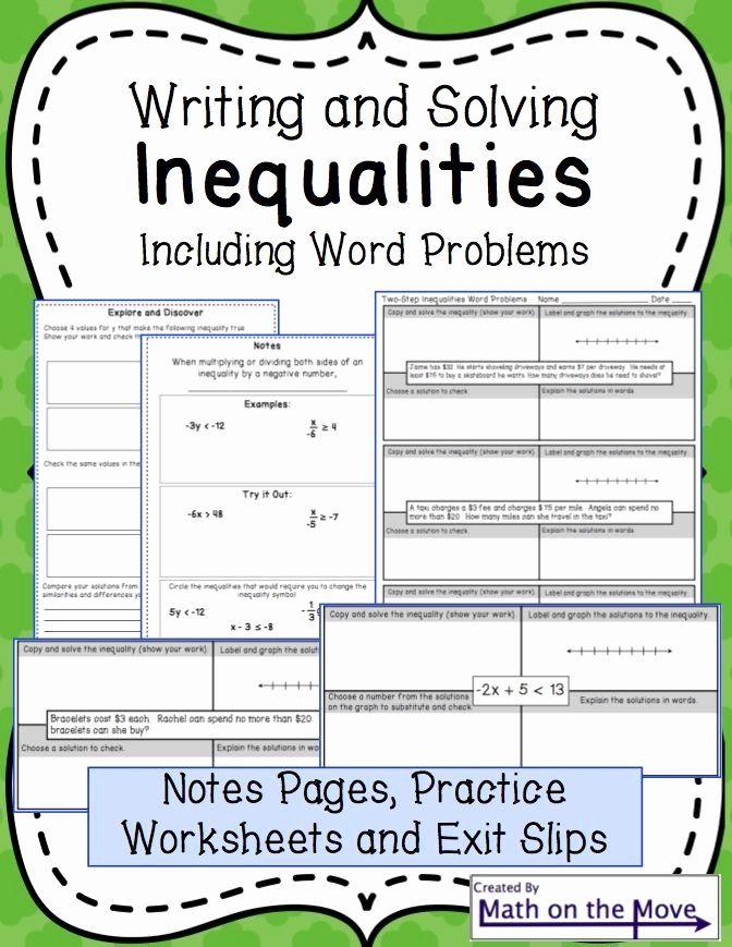 Multi Step Inequalities Worksheet New 40 Best 7th Grade Inequalities Images On Pinterest Solving Inequalities Writing Inequalities Multi Step Inequalities