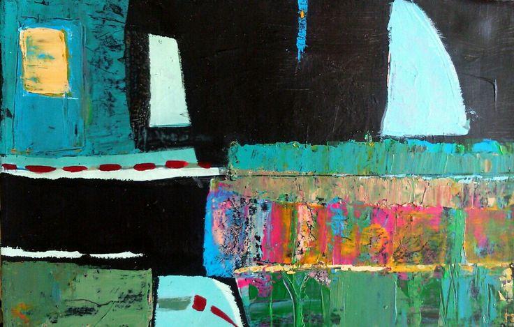 "Joanna Golon  ""Lake"" acrylic on canvas"