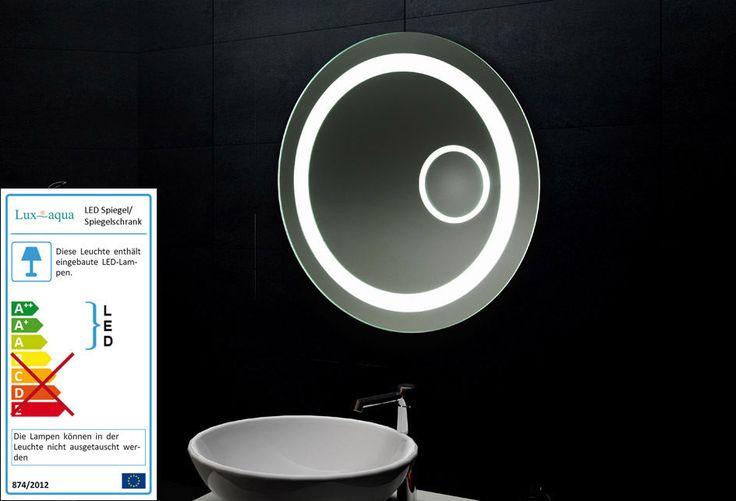 Lux-aqua Design Lichtspiegel LED Beleuchtung mit Schminkspiegel Rund MF6604L in Möbel & Wohnen, Badzubehör & -textilien, Spiegel   eBay!