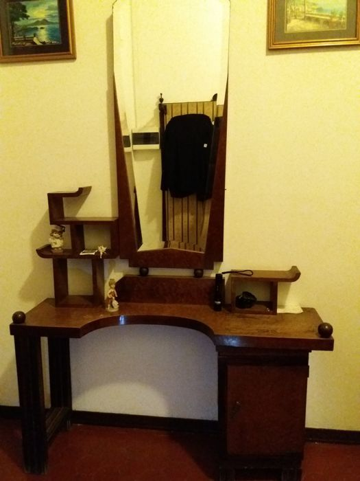 Art deco vanity cabinet with mirror