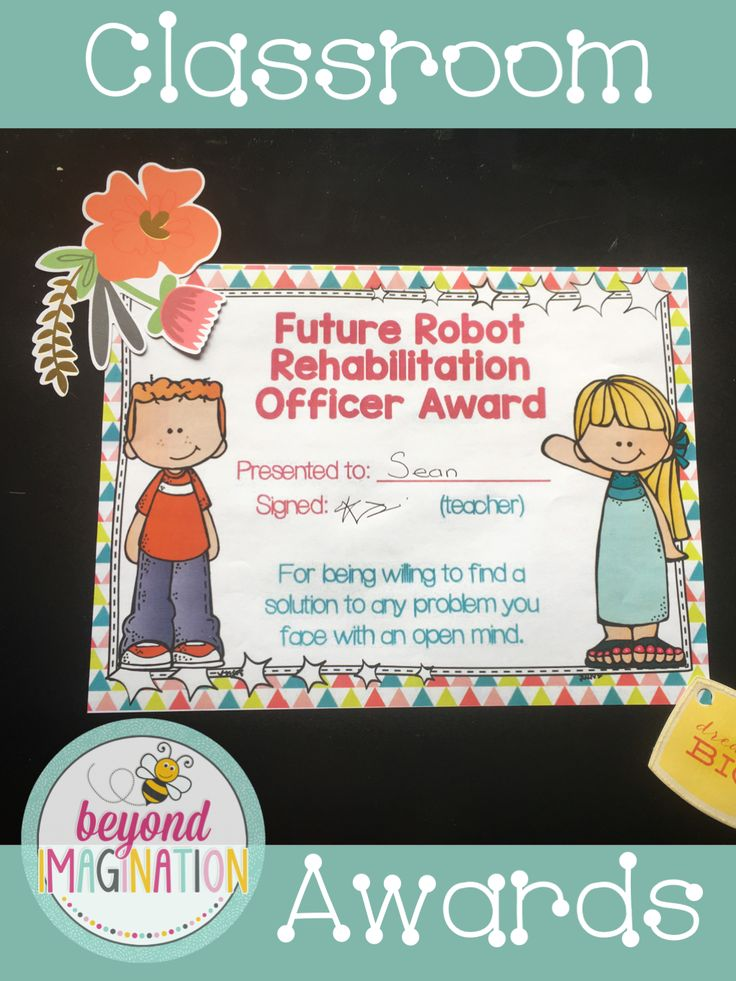 These awards are so cute and so fun and vibrant. My kids would love getting these as end of year awards.