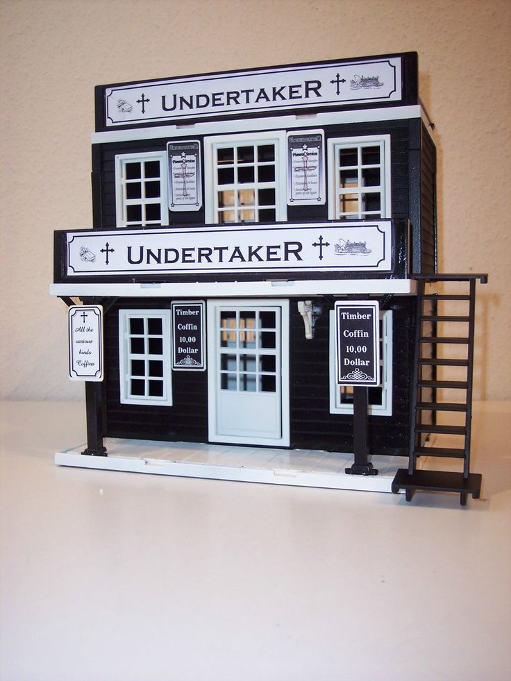 Unikat Custom Made Undertaker Western House Playmobil | eBay