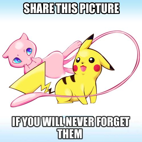 Pickachu and Mew from the very best movie EVER!!!!