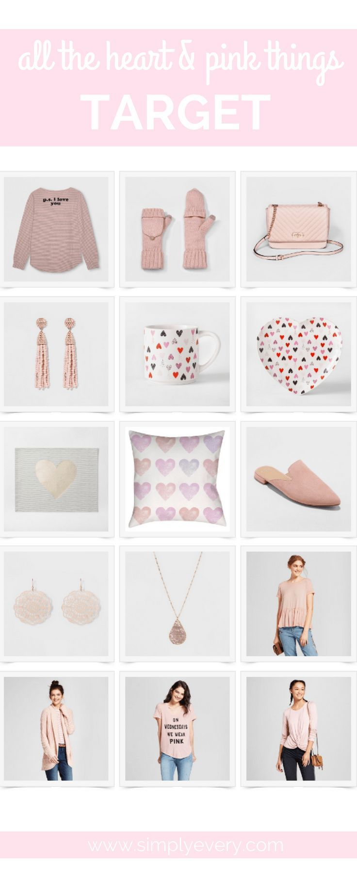 All the Heart & Pink Things – Target & Nordstrom, #giftguides, #valentinesday, shopping for her, gifts for her, gifts for mom, pink gifts, heart, pink accessories