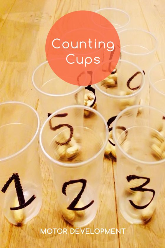 Knoala Late Preschooler Activity: 'Counting Cups' helps little ones develop Motor, Cognitive and Language skills. #Knoala #KidsActivities *What an great collection of no-prep activities for kids!
