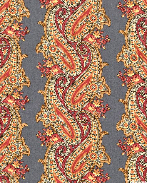Persian Patterns: Interlaced Paisley Stripe