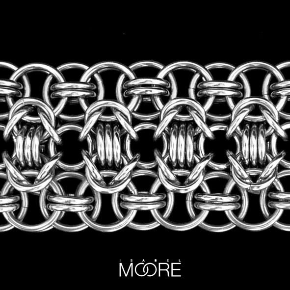 Xenon Bracelet handmade from Stainless Steel http://isabelmoore.com/products/xenon-bracelet