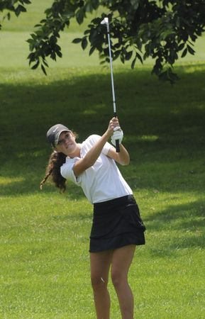 Alexa Luszcz of Aiken South Carolina in action during the 38th Masslive Junior Golf Tournament action August 5, 2014 at Franconia Golf Course in Springfield Massachusetts. (Michael S. Gordon / The Republican)
