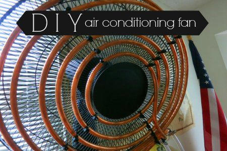 Build your own air conditioning fan with a bucket, some copper coils, and a fountain pump!