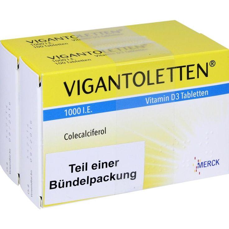 VIGANTOLETTEN 1.000 I.E. Vitamin D3 Tabletten:   Packungsinhalt: 200 St Tabletten PZN: 10544155 Hersteller: Merck Selbstmedikation GmbH…