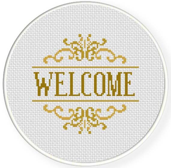 FREE Welcome Cross Stitch Pattern