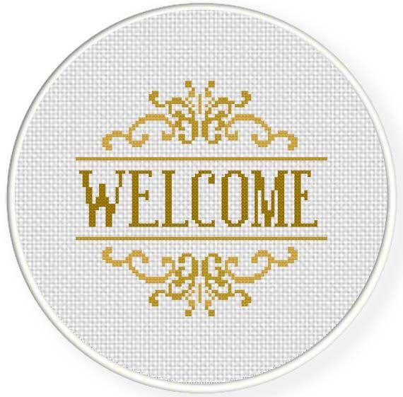 FREE Welcome Cross Stitch Pattern