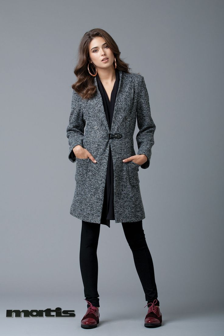 Combat the cold weather with an elegant grey coat!