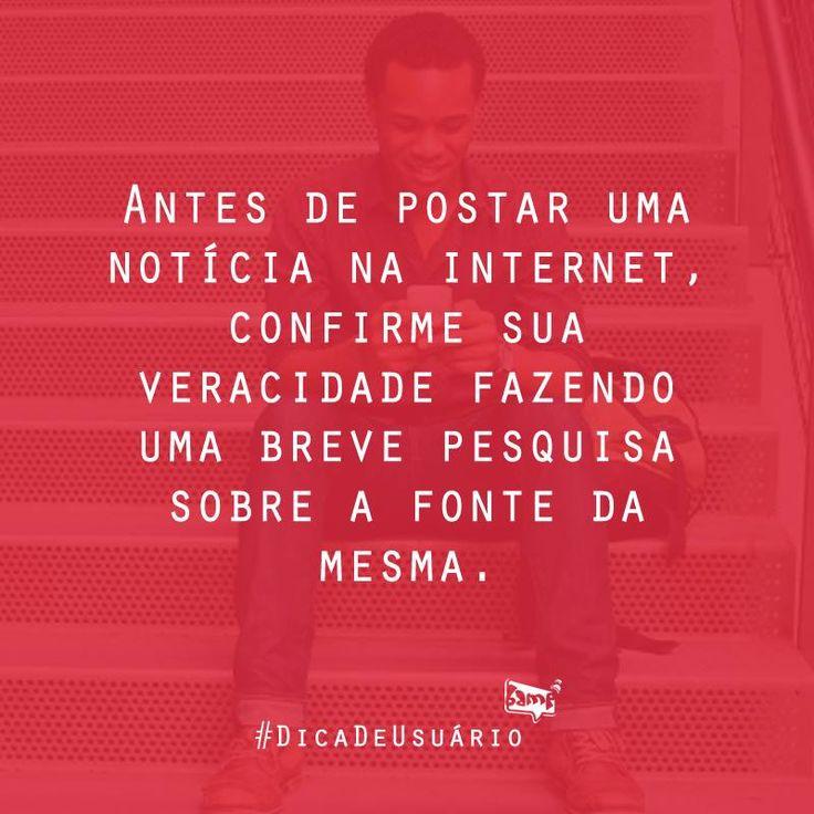 Vai uma #DicadeUsuário para gente não pagar mico na net    #BampDM #DicaBamp #RedesSociais #Internet