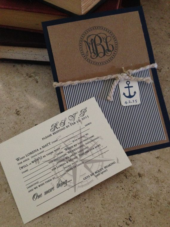 Hey, I found this really awesome Etsy listing at https://www.etsy.com/listing/259658839/nautical-wedding-invitations