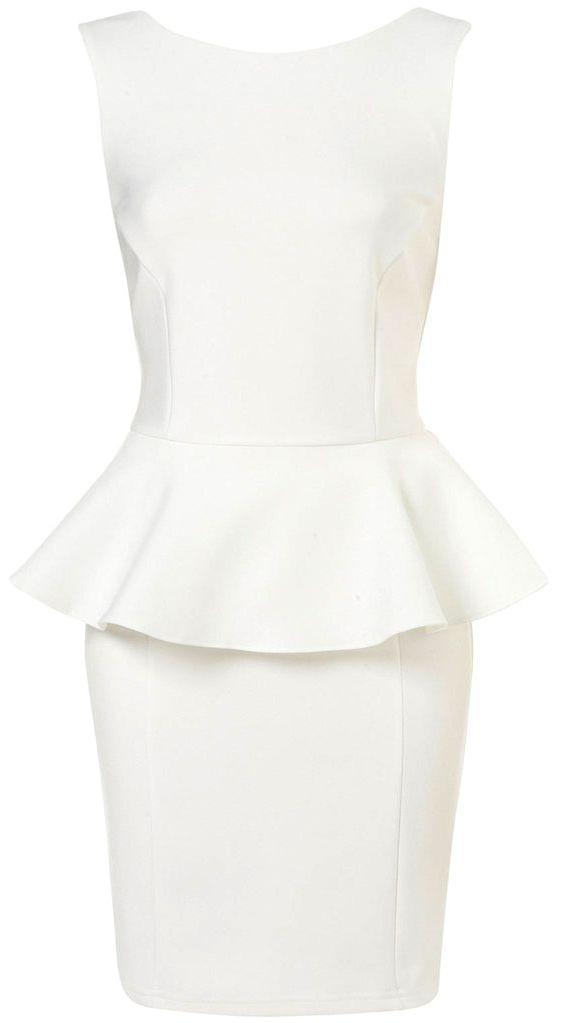 white sleeveless ruffles bodycon dress