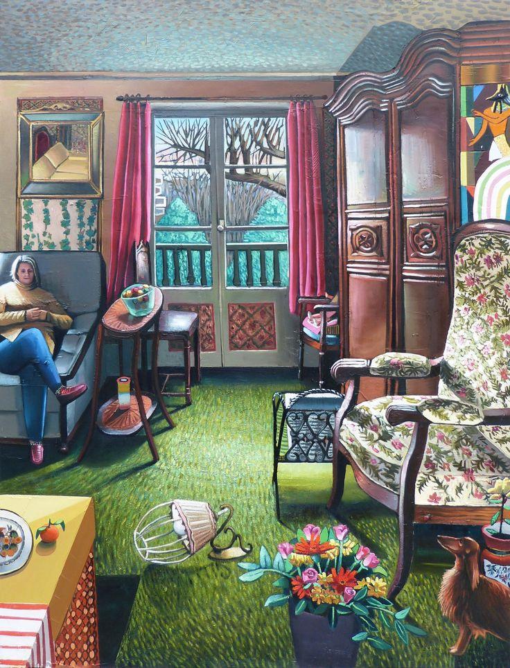 Mathieu Cherkit Jardin d'hiver, 2015 Huile sur toile 190 x 145 cm Oil on canvas 74 ¾ x 57 1/16 in