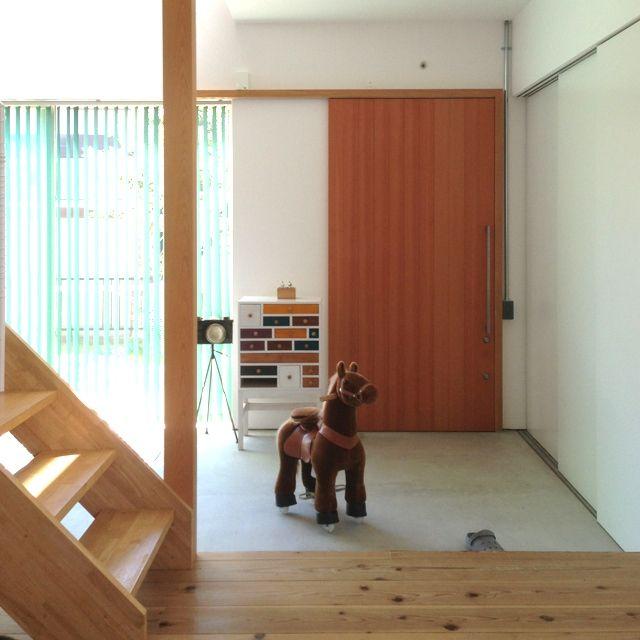 Marikoさんの、玄関/入り口,玄関ドア,土間,チェスト ,エコポニー,のお部屋写真