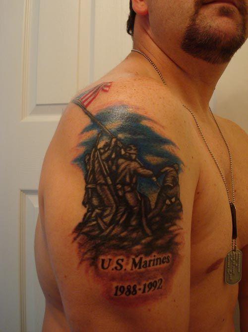 19 best marine corps tattoos images on pinterest marine for Iwo jima tattoo