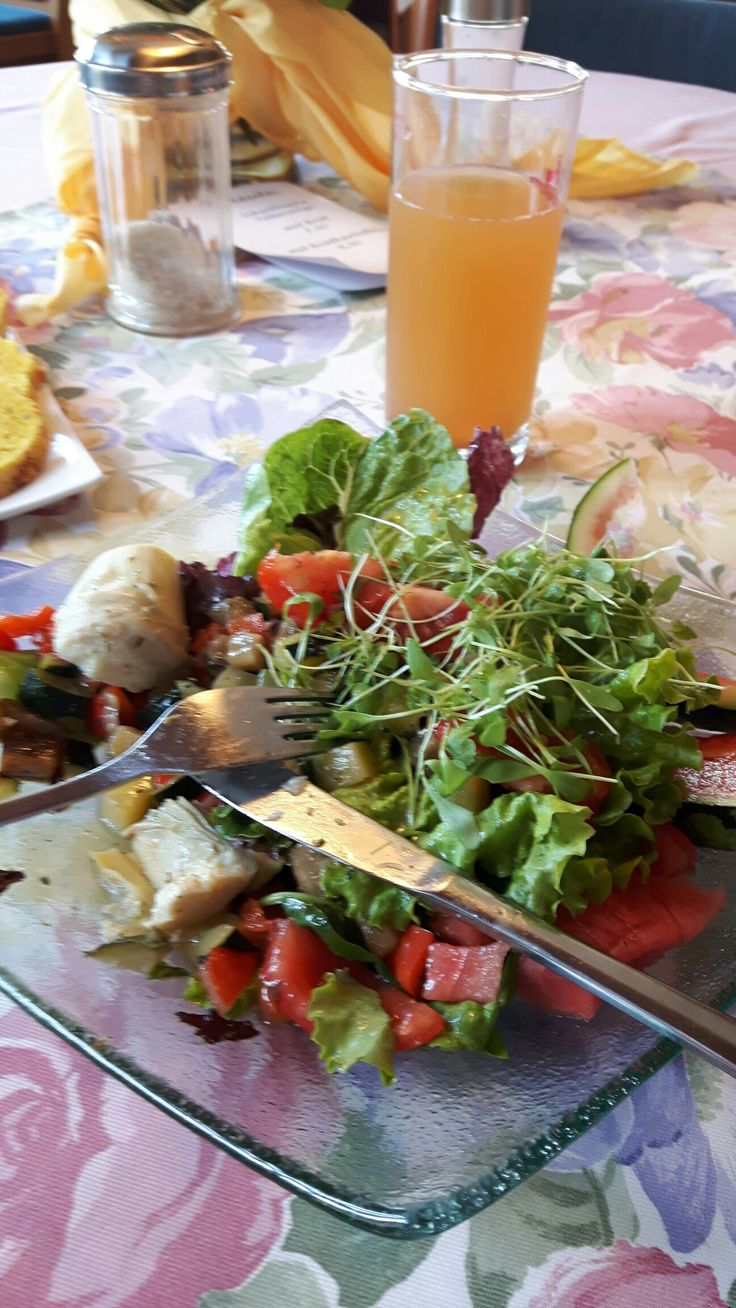 Organic salad at Hotel Albblick, Bad Boll