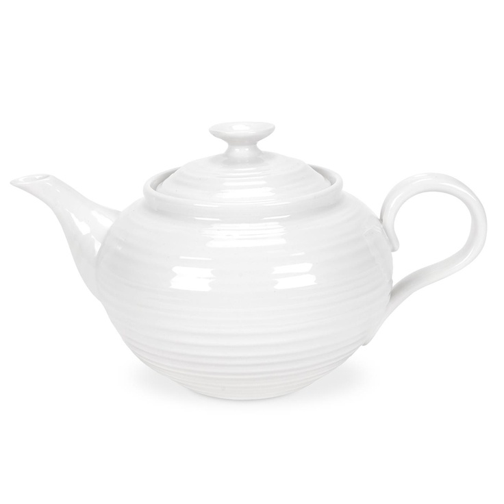 Sophie Conran White 2 Pint Teapot is great for afternoon tea with friends or a sophisticated cuppa at any time of day. 1.13L (2pt). Product Code: CPW76828. Call 905·885·9250.