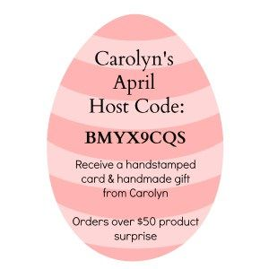 Aprils Host code for my beautiful  Stampin' Up! Customers in Australia - Carolyn Bennie