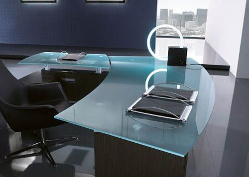 modern frosted glass office furniture design  Commercial Office