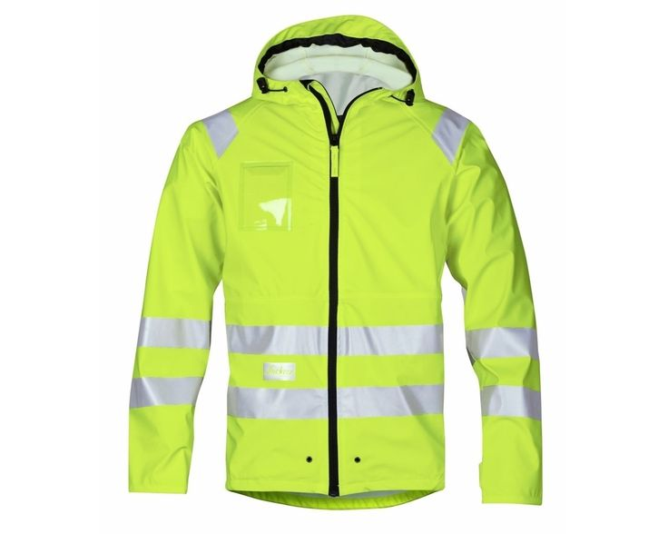 If you want a fully waterproof, non-padded Hi-vis jacket, then this one from Snickers is a great choice. You're highly visible from all directions and because it's designed with totally waterproof seams, preventing moisture penetration for 100% protection, you stay dry!