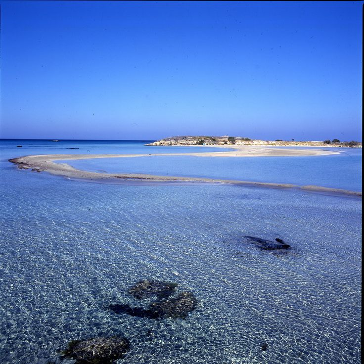 Elafonisi beach.. pinkish sand & turquoise water!! Only 63 Km away!!