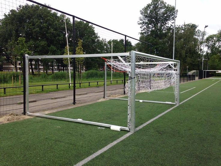 Voetbaldoelen inklapbaar. Hier afgebeeld model JVD150. Topsegment wegdraai- jeugd voetbaldoel.