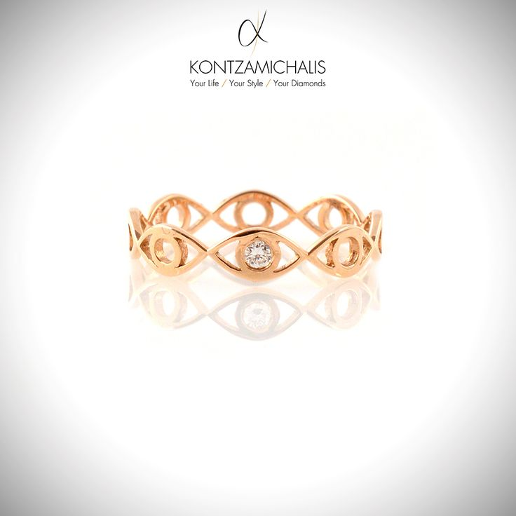 For all the gold lovers out there, this 18k rose gold ring will make your heart skip a beat. #KontzamichalisJewellery