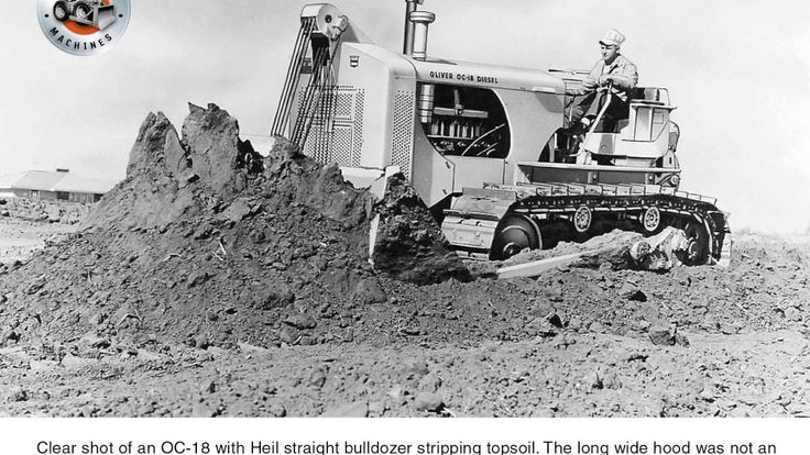 Earthmoving machines: The Oliver OC-18 tractor